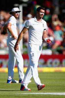 Backing: James Anderson is excited by five-day game