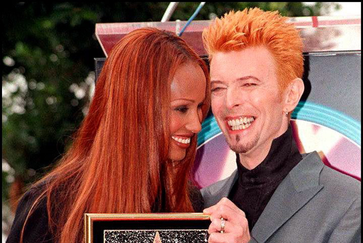 David Bowie and his wife, supermodel Iman