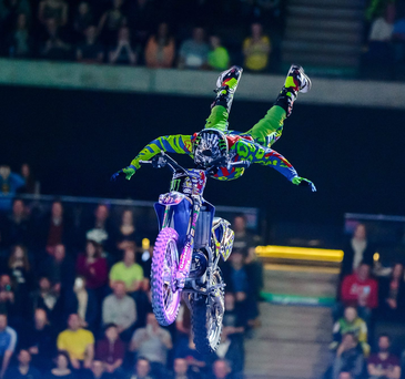 Hot wheels: Edgar Torronteras says he always relishes the Belfast leg of the Arenacoss tour