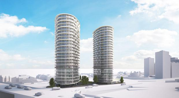 Lakesmere Group has secured a new £13.3m appointment from main contractor Carillion to deliver a striking vertical envelope package for two new high-rise residential tower blocks in the Royal Victoria Docks area of London.The contract for Hoola, the landmark new residential development on Tidal Basin Road which comprises two 23 and 24 storey towers, will be delivered by Belfast based McMullen Facades, part of the Lakesmere Group.