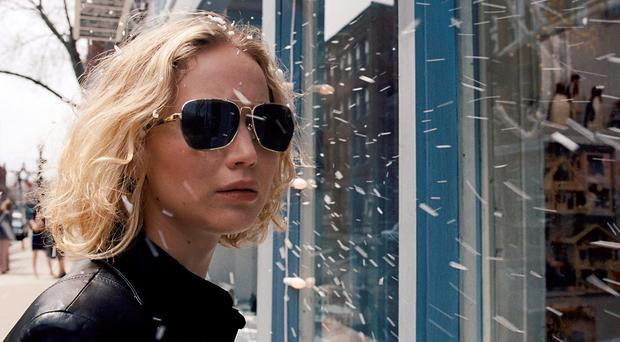 Jennifer Lawrence in a scene from the film,
