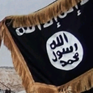 Islamic State rebels show their flag