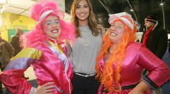 Hollie and Day welcome TOWIE and I'm A Celebrity Get Me Out of Here star to the Belfast Telegraph Holiday World Show.