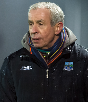On the up: Pete McGrath is impressed by Erne attitude