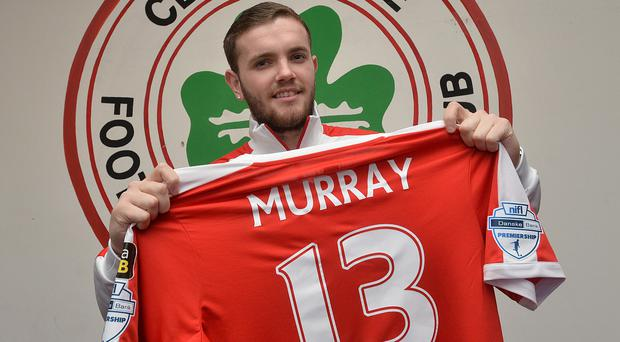 Getting shirty: Darren Murray is the new number 13 at Cliftonville