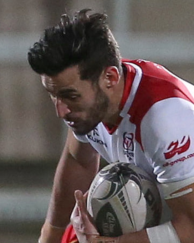 Cross over: Ulster A's Sam Windsor bagged a try in loss