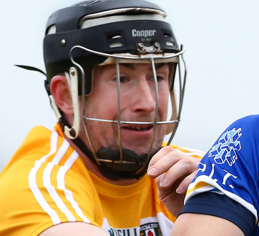 On the ball: Eddie McCloskey was on form for Antrim