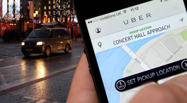 Uber is a taxi-booking app for mobile phones.