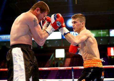 Golden opportunity: Marc McCullough will fight for the Commonwealth featherweight crown