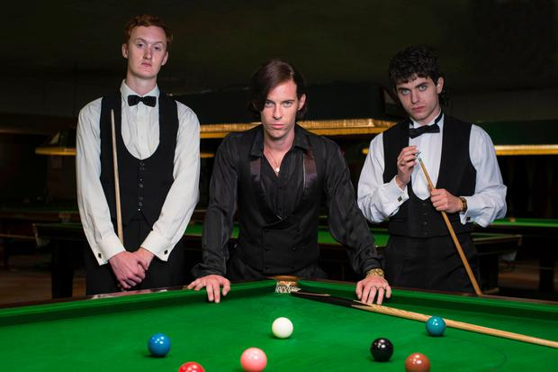 Will Merrick as Steve Davis, Luke Treadaway as Alex Higgins and James Bailey as Jimmy White