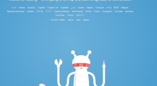 Twitter users were met with an error message.