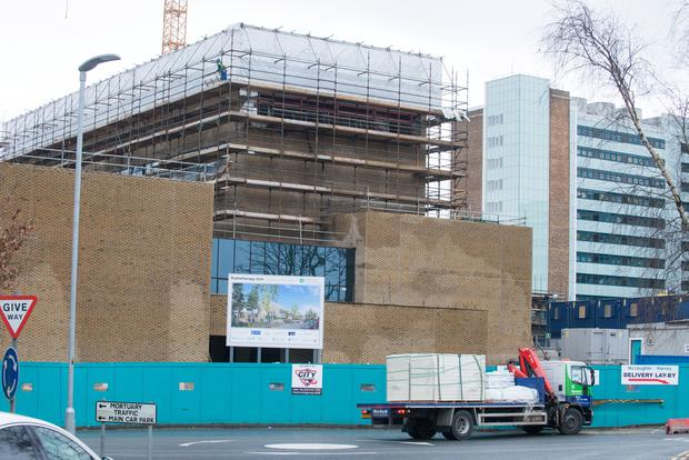 The new radiotherapy unit currently being built at Altnagelvin Hospital. Picture by Martin McKeown