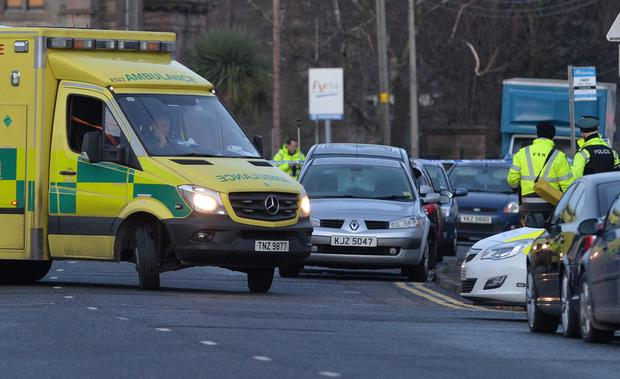Police and emergency services at the scene of a serious road traffic collision on Scrabo Road in Newtownards. Photo Colm Lenaghan/Pacemaker Press