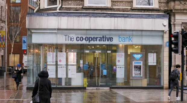 The Co-Operative bank in Donegall Square in Belfast. Pic Kevin Scott
