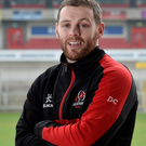 Fighting fit: Darren Cave at the Kingspan yesterday ahead of the crucial clash there tomorrow against Oyonnax