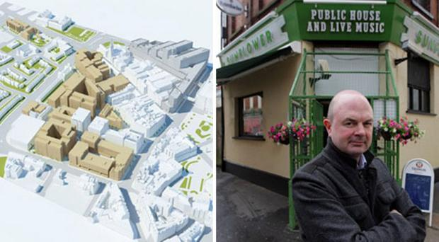 What the plans could look like, and Pedro Donald outside The Sunflower