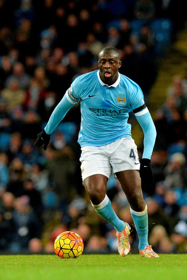 On the move: Yaya Toure could leave City in the summer
