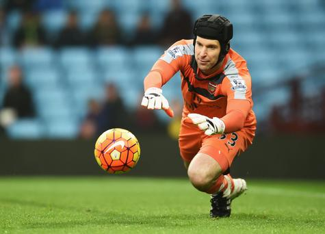 Top stopper: Petr Cech will face his old Chelsea team mates on Sunday at the Emirates Stadium