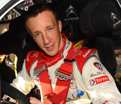 Unfortunate: Kris Meeke hit a rock and was forced to retire