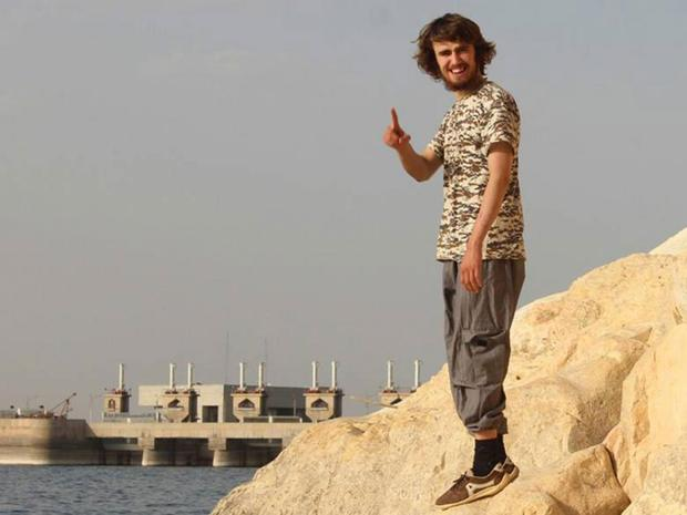 Jack Letts, in a picture he posted on Facebook, near the Tabqa Dam in Syria
