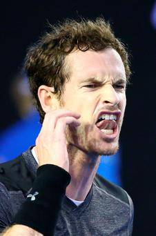 Concern: Andy Murray was upset at Nigel Sears' illness