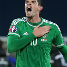 Kyle Lafferty scored seven goals in nine Euro games