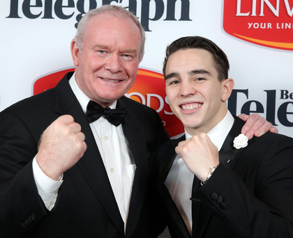 Deputy First Minister Martin McGuinness with Michael Conlan pictured at the awards night