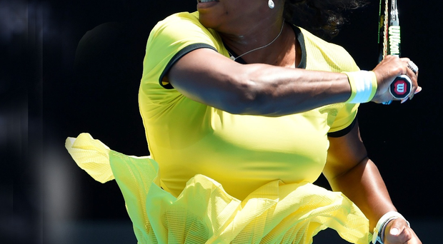 Mean streak: Serena Williams extended her unbeaten run against Maria Sharapova