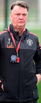 Still in charge: Louis Van Gaal was said to be ready to quit