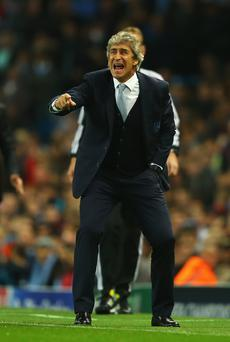 Wembley way: Manuel Pellegrini is determined to reach final