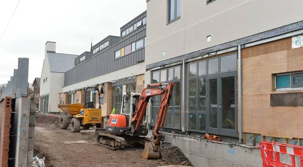 Building is underway at the new Northern Ireland Hospice for adults in Somerton Road, north Belfast