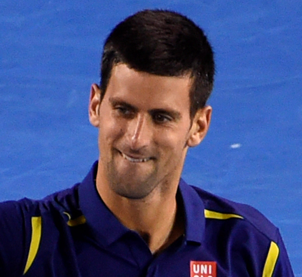 On the march: Novak Djokovic beat great rival Roger Federer to clinch a place in the Australian Open final