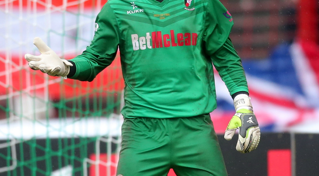 Milestone: Elliott Morris is one away from his 600th Glentoran appearance but an injury setback has prevented that tomorrow