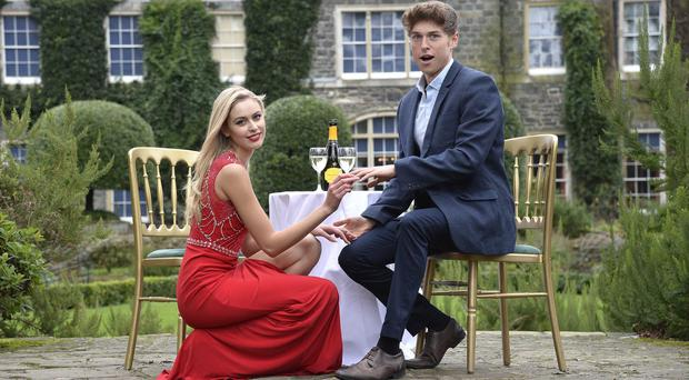 Miss Ireland Sacha Livingstone has used one of Northern Ireland's most iconic estates, the stunning Mount Stewart and its gardens, as inspiration for her 'proposal' to model James McDowell.