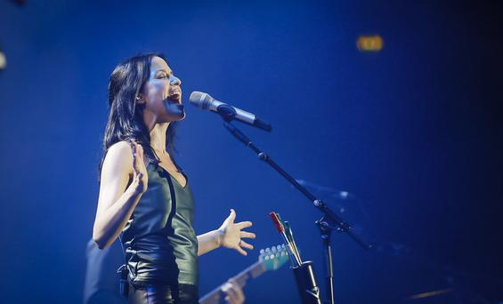 Picture - Kevin Scott / Belfast Telegraph Belfast , UK - January 29th, Pictured is the Corrs performing at the SSE arena in Belfast on the 29th January 2016 (Photo by (Kevin Scott / Belfast Telegraph)
