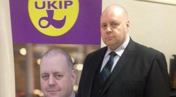Chairman of Ukip in Scotland Arthur Misty Thackeray