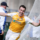Pick it out: Kevin Niblock grabbed Antrim's goal