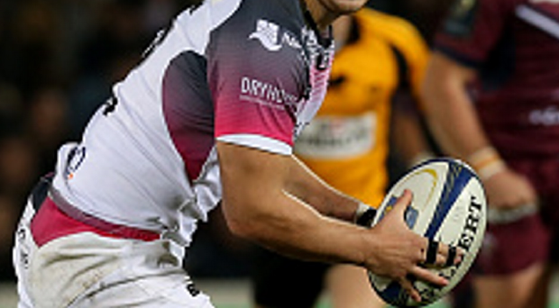 Just in time: Dan Evans scored a late try for Ospreys