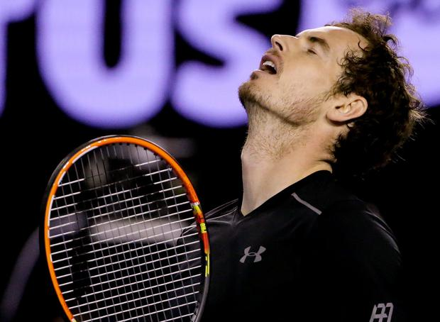 Painful defeat: Andy Murray's face shows how he is feeling after defeat to Novak Djokovic in the Australian Open final