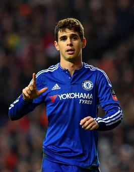Oscar bagged a hat-trick for Chelsea against MK Dons