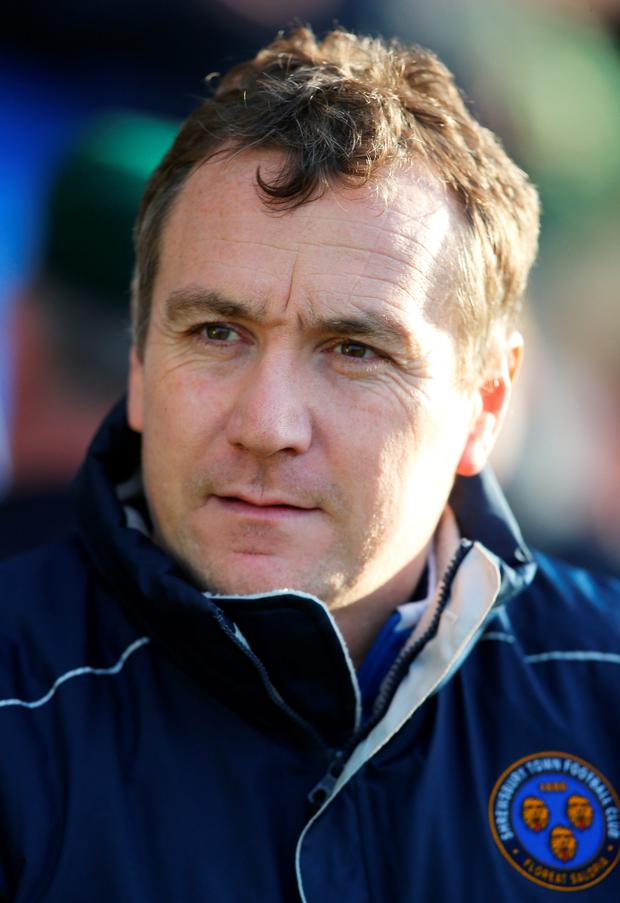 Shrewsbury Town manager Micky Mellon