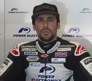 Real scare: the throttle stuck open on Eugene Laverty's bike