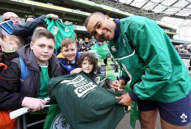 Signing on: Simon Zebo has ended speculation over his future by penning a new two-year deal with Munster