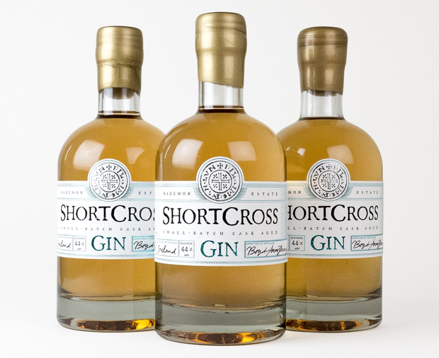 The cask-aged Shortcross Gin