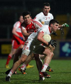 Up for the challenge: Connor McAliskey is relishing the battle for a place in Tyrone's line-up