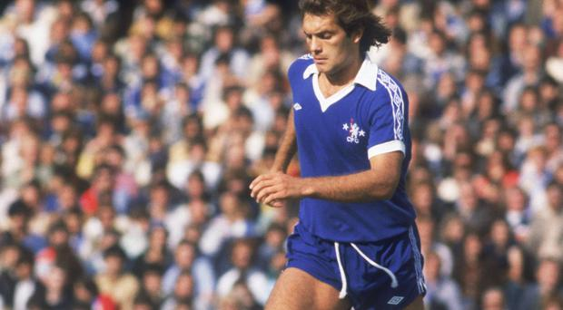 In his heyday: Ray Wilkins of Chelsea, in action, circa 1975