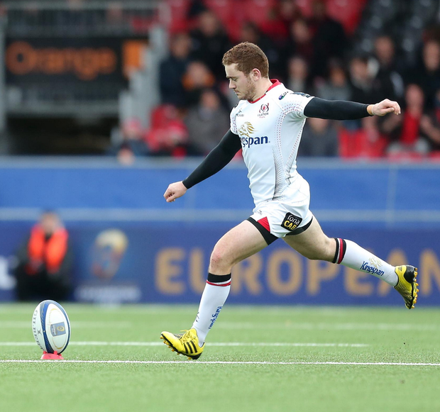 Paddy Jackson has been named on the bench.