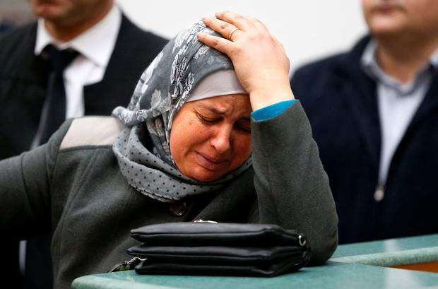 Suha, the mother of Palestinian teenager Mohammed Abu Khdeir who was killed in 2014, reacts in a courtroom after the sentences were announced on February 4, 2016 at the Jerusalem district court. [File photo] AFP/Getty Images
