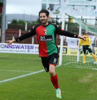 Glentoran striker Curtis Allen hopes to fire his side into another Irish Cup final following their 2015 heroics