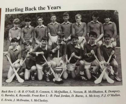 Is that Liam Neeson in the back row? Pic: St Patrick's Ballymena